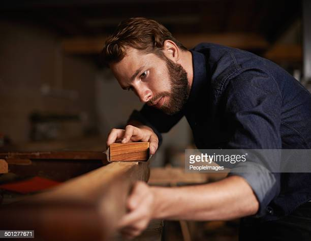 since opportunity didn't knock, he decided to build a door - craftsman stock photos and pictures