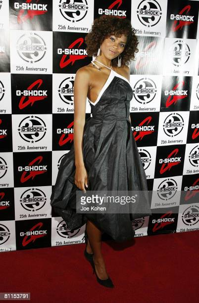Sincerely Ward attends the Casio GSHOCK 25th Anniversary Celebration at Gustavino's on May 14 2008 in New York City