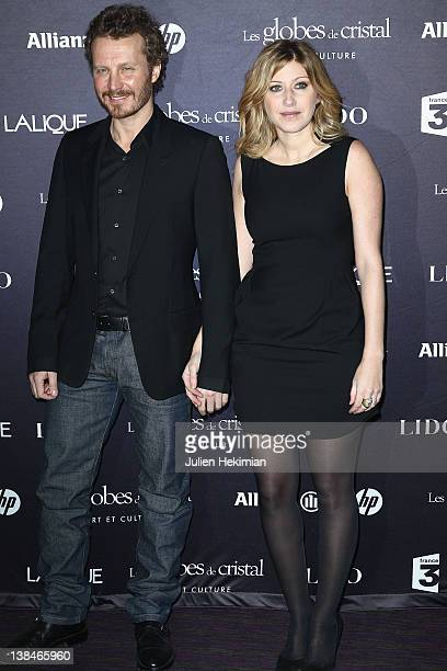 Sinclair and Amanda Sthers attend the Globes de Cristal ceremony at Le Lido on February 6 2012 in Paris France