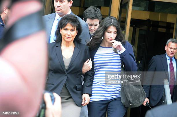 Sinclair, Anne - Journalist, France - Dominique Strauss Khan, the Ex chief of the IMF has posted bail of one million dollars after he was accused of...