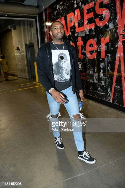 Sindarius Thornwell of the LA Clippers arrives to the game against the Chicago Bulls on March 15 2019 at STAPLES Center in Los Angeles California...