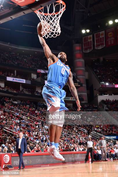 Sindarius Thornwell of the LA Clippers dunks against the Houston Rockets on March 15 2018 at the Toyota Center in Houston Texas NOTE TO USER User...