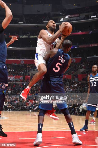 Sindarius Thornwell of the LA Clippers goes to the basket against the Minnesota Timberwolves on December 6 2017 at STAPLES Center in Los Angeles...