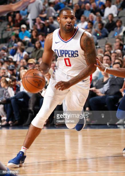 Sindarius Thornwell of the LA Clippers handles the ball against the Dallas Mavericks on December 2 2017 at the American Airlines Center in Dallas...
