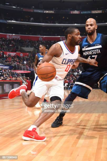 Sindarius Thornwell of the LA Clippers handles the ball against the Minnesota Timberwolves on December 6 2017 at STAPLES Center in Los Angeles...