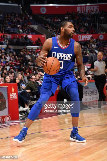 Sindarius Thornwell of the LA Clippers handles the ball during the game against the Washington Wizards on December 9 2017 at STAPLES Center in Los...