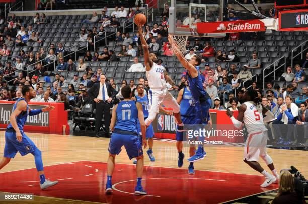 Sindarius Thornwell of the LA Clippers shoots the ball against the Dallas Mavericks on November 1 2017 at STAPLES Center in Los Angeles California...