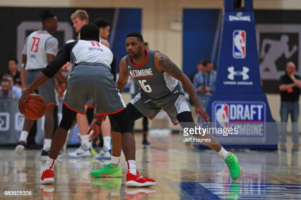 Sindarius Thornwell plays defense during the NBA Draft Combine Day 2 at the Quest Multisport Center on May 12 2017 in Chicago Illinois NOTE TO USER...