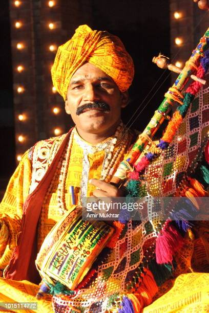 sindhi hindu singer performing traditional and cultural songs - sindhi culture stock photos and pictures