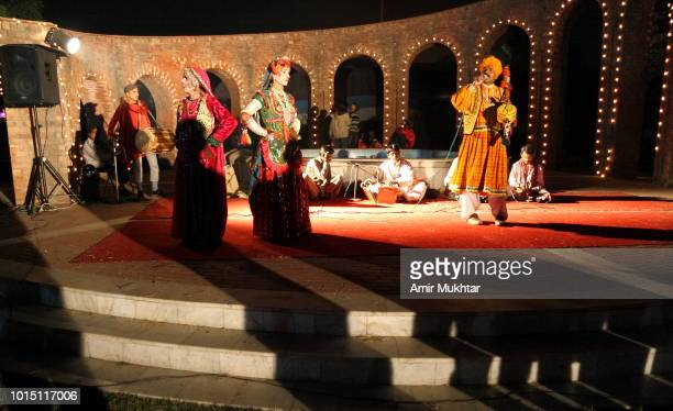 sindhi singers and dancers performing traditional and cultural songs and dances - sindhi culture stock photos and pictures