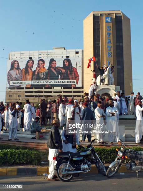 sindhi topi ajrak day, the sindhi cultural day being celebrated in karachi - sindhi culture stock photos and pictures