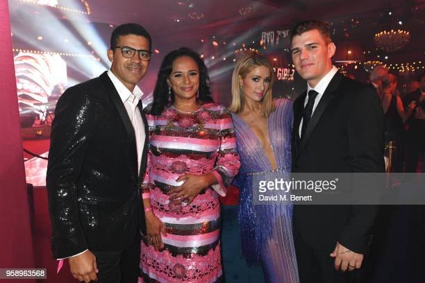 Sindika Dokolo, Isabel dos Santos, Paris Hilton and Chris Zylka attend the de Grisogono party during the 71st annual Cannes Film Festival at Villa...