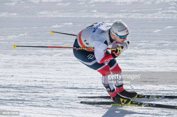Sindre Bjornestad Skar of Norway during Men's Sprint Free at Lugnet Stadium on March 16, 2018 in Falun, Sweden.