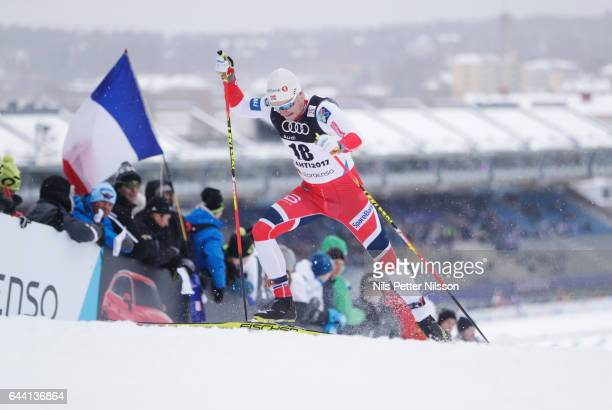 Sindre Skar Bjoernstad of Norway during the cross country sprint during the FIS Nordic World Ski Championships on February 23, 2017 in Lahti, Finland.