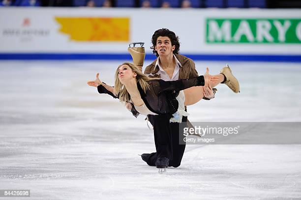 Sinead and John Kerr competing in the Ice Dance Free Dance program during the ISU European Figure Skating Championship at the Hartwall Areena on...