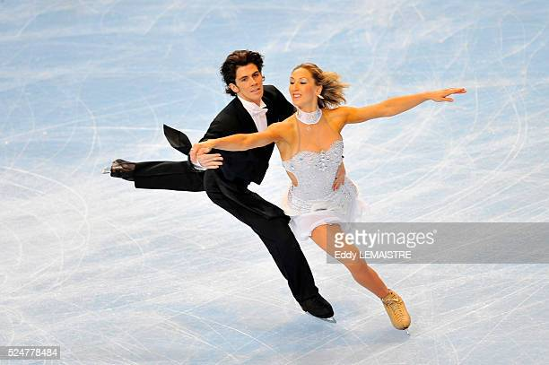 Sinead and John Kerr of Great Britain during the ice dance compulsory dance golden waltz event of the Eric Bompard Figure Skating trophy on 0ctober...