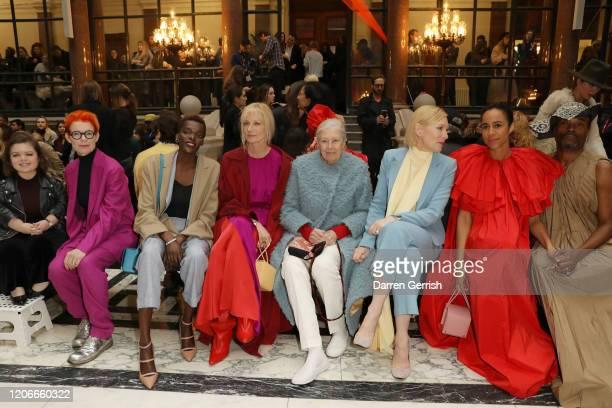 Sinead Burke Sandy Powell Sheila Atim Joely Richardson Vanessa Redgrave Cate Blanchett Zawe Ashton and Billy Porter attend the Roksanda show during...