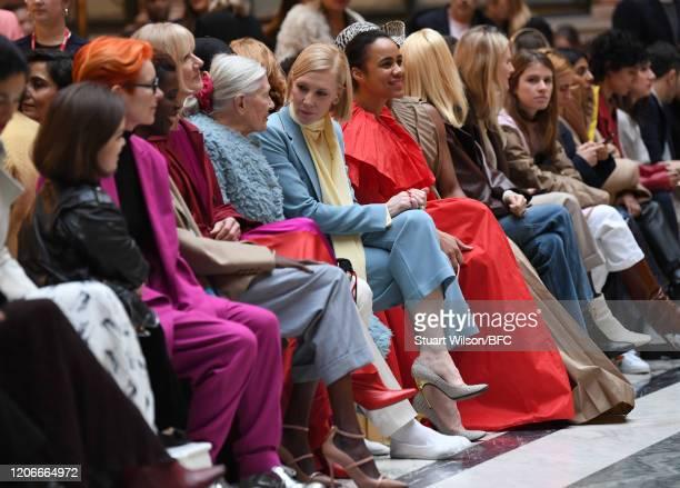 Sinead Burke Sandy Powell Sheila Atim Joely Richardson Vanessa Redgrave Cate Blanchett and Zawe Ashton sit front row for the Roksanda Show during...