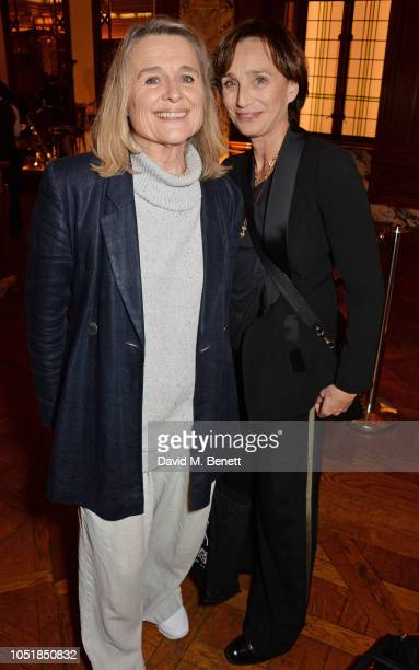 Sinead Cusack and Dame Kristin Scott Thomas attend an after party for Happy Birthday Harold a charity gala celebrating the life and work of Harold...