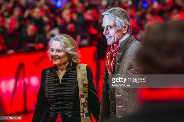 Sinead Cusack and Jeremy Irons arrive for the opening ceremony and My Salinger Year premiere during the 70th Berlinale International Film Festival...
