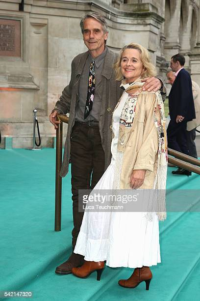 Sinead Cusack and Jeremy Irons arrive for the VA Summer Party at Victoria and Albert Museum on June 22 2016 in London England