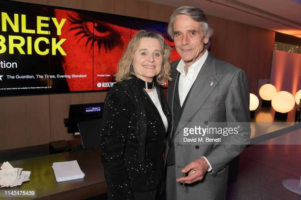 Sinead Cusack and Jeremy Irons attend a private view of Stanley Kubrick The Exhibition at The Design Museum on May 9 2019 in London England