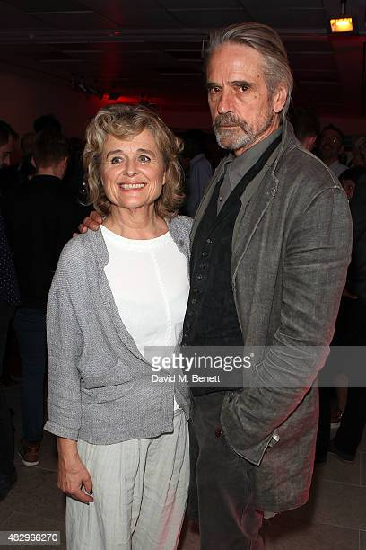 Sinead Cusack and Jeremy Irons attend the after party following the press night performance of Splendour playing at the Donmar Warehouse at The...