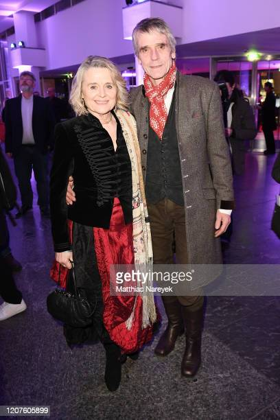 Sinead Cusack and Jeremy Irons attend the opening party during the 70th Berlinale International Film Festival Berlin at Kulturforum on February 20...