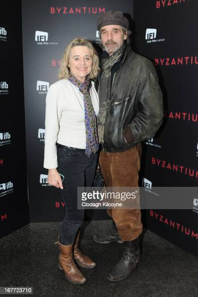 Sinead Cusack and Jeremy Irons attends the Gala Irish Premiere of 'Byzantium' at the at IFI on April 28 2013 in Dublin Ireland