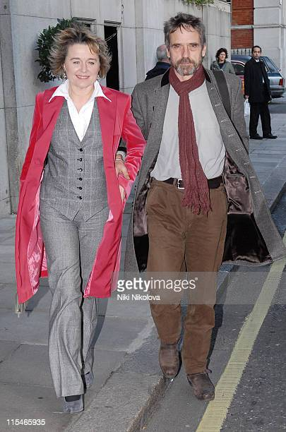 Sinead Cusack and Jeremy Irons during Evening Standard Theatre Awards Arrivals at The Savoy in London Great Britain