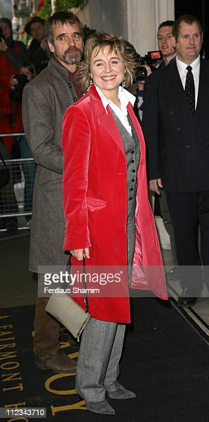 Sinead Cusack and Jeremy Irons during The 2006 Evening Standard Theatre Awards Arrivals at The Savoy in London Great Britain