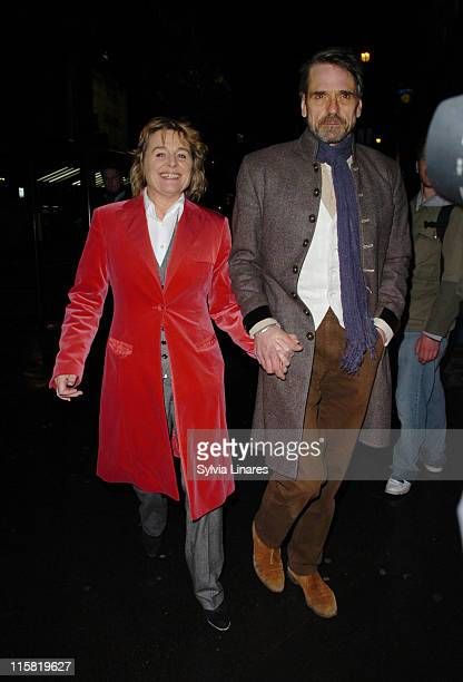 sinead cusack and Jeremy Irons during The Lady From Dubuque Gala Evening at Theatre royal in London Great Britain