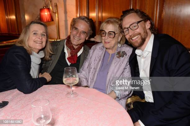 Sinead Cusack Jeremy Irons Lady Antonia Fraser and Tom Hiddleston attend an after party for Happy Birthday Harold a charity gala celebrating the life...