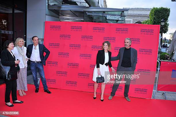 Sinead Cusack , Jeremy Irons , Michel Ferracci and Emilie Dequenne attend the 4th Champs Elysees Film Festival Opening Ceremony and Valley of Love...