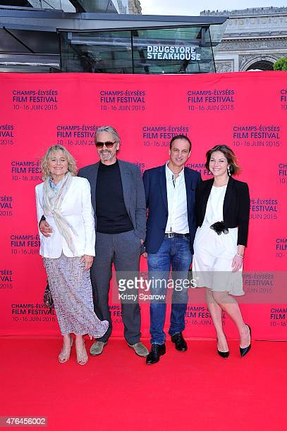 Sinead Cusack, Jeremy Irons, Michel Ferracci and Emilie Dequenne attend the 4th Champs Elysees Film Festival Opening Ceremony and Valley of Love...