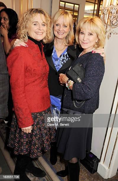 Sinead Cusack Twiggy and Felicity Kendal arrive at the 2013 South Bank Sky Arts Awards at The Dorchester on March 12 2013 in London England