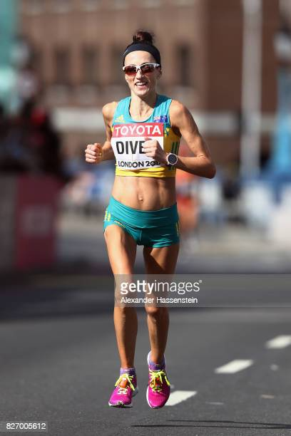 Sinead Diver of Australia competes in the Women's Marathon during day three of the 16th IAAF World Athletics Championships London 2017 at The London...