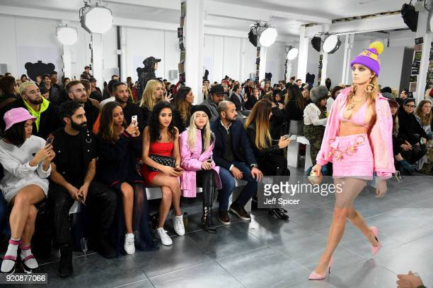 Sinead Harnett Amir Amor Jade Thirwall Kara Marni and Alice Chater attend the Nicopanda FW18 LFW Show during London Fashion Week February 2018 at...