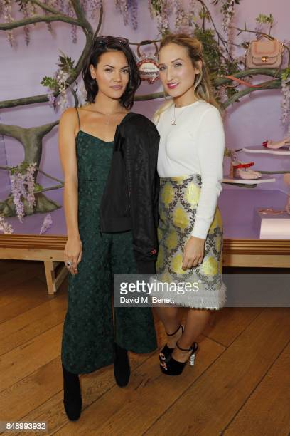 Sinead Harnett and Sophie Webster attend the Sophia Webster SS18 Presentation at The Portico Rooms Somerset House on September 18 2017 in London...