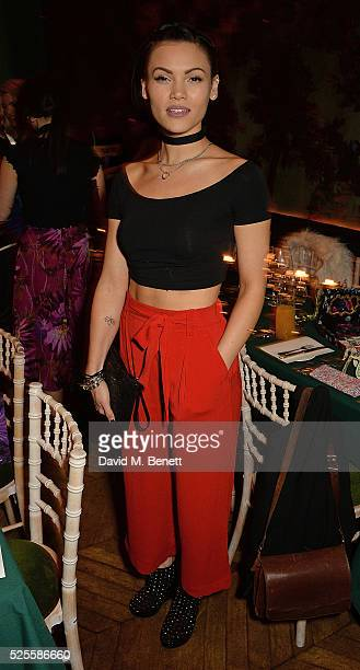 Sinead Harnett attend Urban Decay VIP dinner #UDinWonderland at Sketch on April 28 2016 in London England