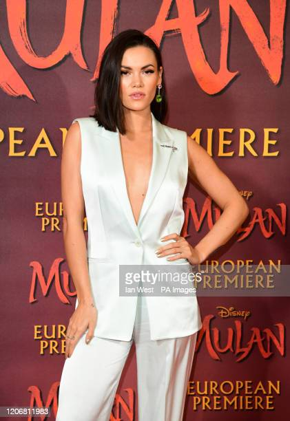 Sinead Harnett attending the European premiere of Disney's Mulan held in Leicester Square London