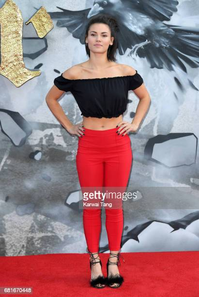 Sinead Harnett attends the European premiere of 'King Arthur Legend of the Sword' at Cineworld Empire on May 10 2017 in London United Kingdom