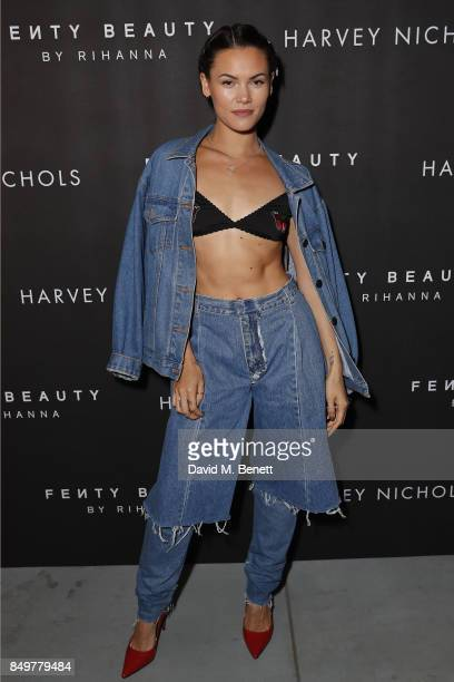 Sinead Harnett attends the Fenty Beauty x Harvey Nichols launch at Harvey Nichols on September 19 2017 in London England