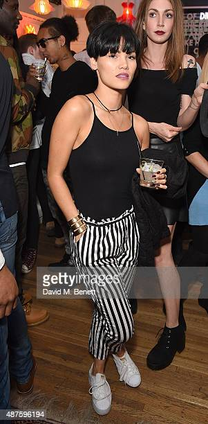 Sinead Harnett attends the launch party for Professor Green's autobiography 'Lucky' sponsored by Crystal Head Vodka at Lights Of Soho on September 10...
