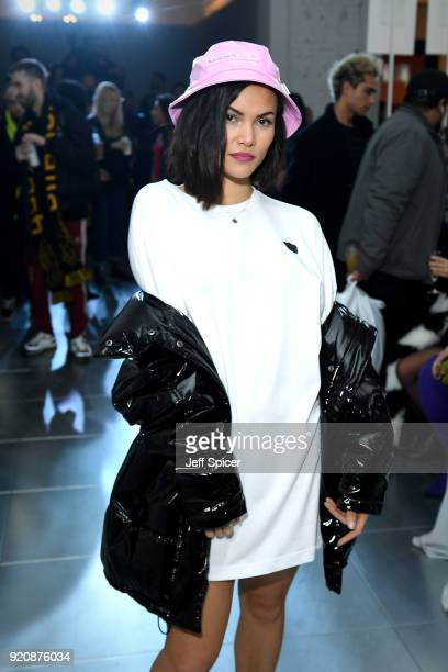 Sinead Harnett attends the Nicopanda FW18 LFW Show during London Fashion Week February 2018 at TopShop Show Space on February 19 2018 in London...