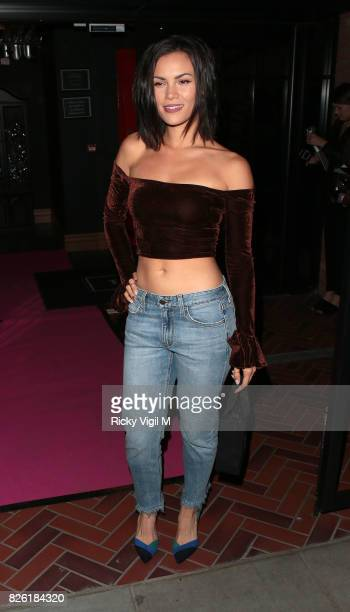 Sinead Harnett attends the #YSLBeautyClub party in collaboration with Sink The Pink at The Curtain on August 3 2017 in London England