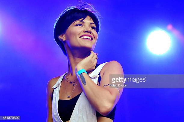 Sinead Harnett performs live on stage during the Summer Series at Somerset House on July 19 2015 in London United Kingdom