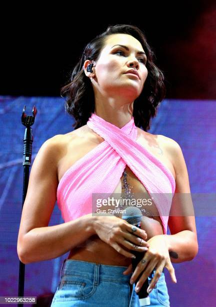 Sinead Harnett performs on the main stage at RiZE Festival on August 17 2018 in Chelmsford United Kingdom