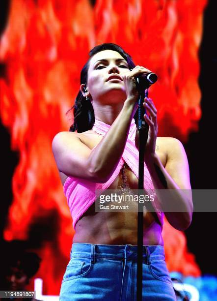 Sinead Harnett performs on the main stage at RiZE Festival on August 17, 2018 in Chelmsford, United Kingdom.
