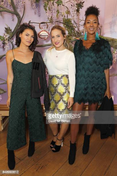 Sinead Harnett Sophie Webster and Yasmin Evans attend the Sophia Webster SS18 Presentation at The Portico Rooms Somerset House on September 18 2017...